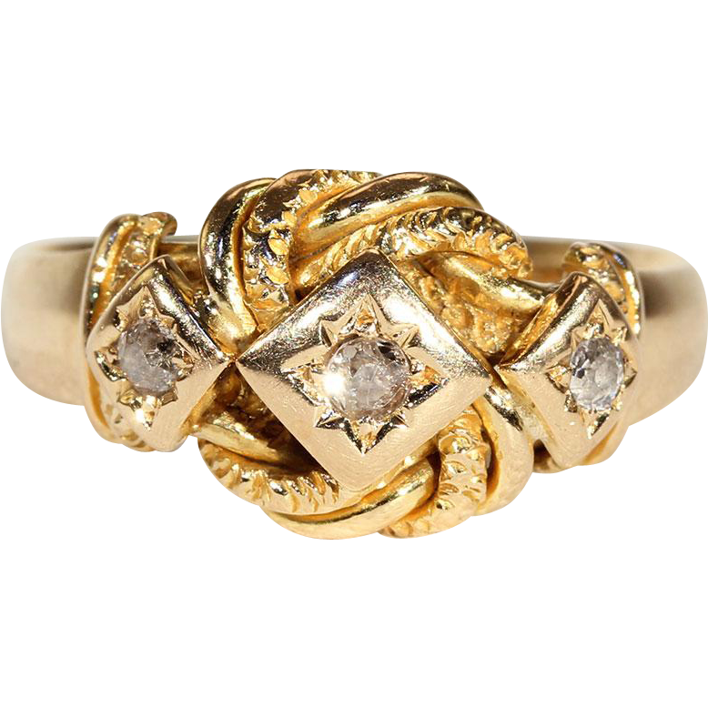 man 39 s heartfelt edwardian love knot wedding band ring from