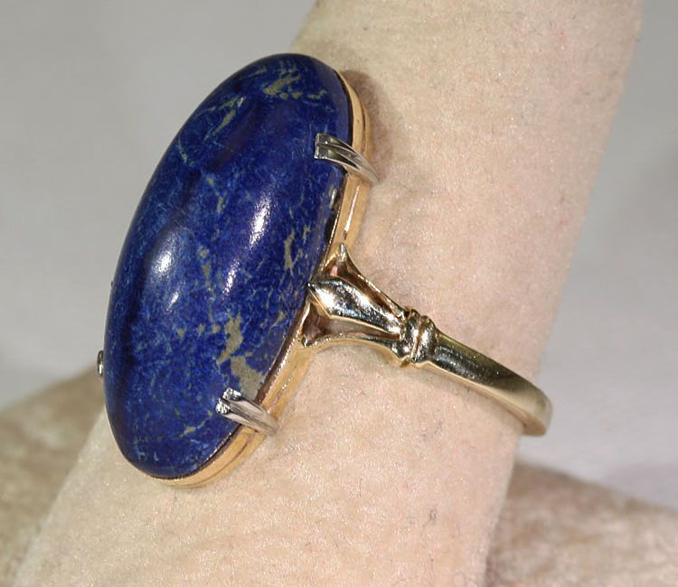 Antique Lapis Lazuli Earrings