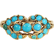 Antique Victorian Turquoise Ring in 18k Gold