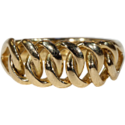 Antique Sufferagette (?) Gold Link Ring, London 1901 18k