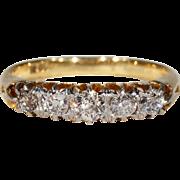 Antique Edwardian 5 Stone Diamond Ring