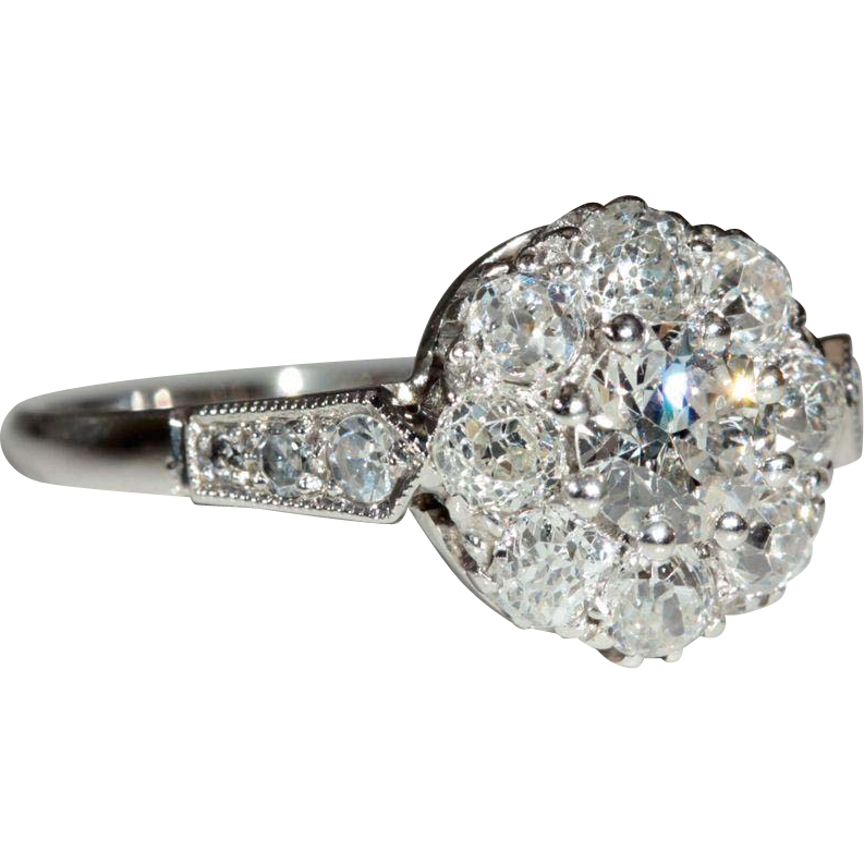 Vintage 18k and Platinum Art Deco Diamond Engagement Ring c.1930, *Video*
