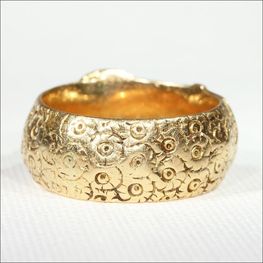 Antique Victorian Engraved Wide 18k Gold Buckle Ring, Men\'s or ...