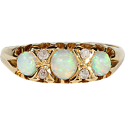 Edwardian Opal Diamond Ring Hallmarked 1905