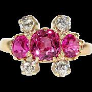 Edwardian Gold Ruby Diamond Ring