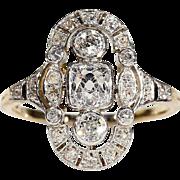 Antique Edwardian Diamond Gold Platinum Ring