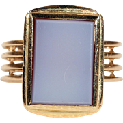 Antique French Sardonyx Gold Ring c 1880
