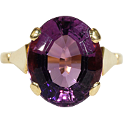 Vintage Amethyst 18k Gold English Ring