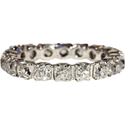 Vintage Art Deco Eternity Band, 3.6ctw, Size 7