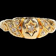 Antique Edwardian Diamond Ring in 18k Gold, Engagement, Wedding