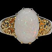 Antique Art Nouveau Opal Ring 18k Gold