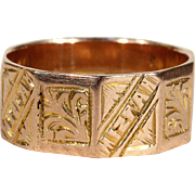 Antique Victorian 'Mizpah' Band Ring in 9k Gold
