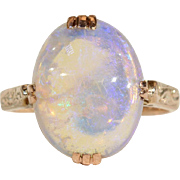 Antique Victorian Opal Solitiare Ring in 14k Gold