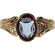 Antique Victorian Signet Ring Carved Agate