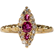 Antique Edwardian Ruby Diamond Ring