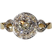 Antique Edwardian Diamond Ring 18k Gold and Platinum