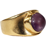 Vintage Georg Jensen Amethyst Ring 18k Gold