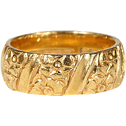 Vintage 22k Gold Wedding Band Ring Size 5.5