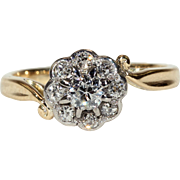 Victorian Gold Diamond Cluster Ring