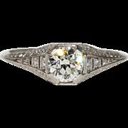 Vintage Art Deco Platinum Diamond Ring