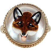 Victorian Essex Crystal Fox Ring Gold