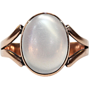 Victorian 7+ Carat Moonstone Solitaire Ring in Gold