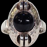Theodor Fahrner Silver Onyx Jugendstil Ring