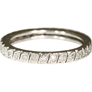 Vintage French Diamond Eternity Band, 18k Size 8