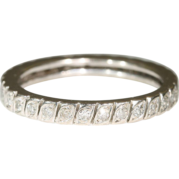 Vintage Diamond Eternity Band 56
