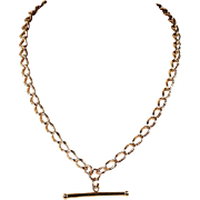 Fantastically Wearable Watch Chain Necklace in 9k Gold, 18 inches long