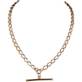 SALE Fantastically Wearable Watch Chain Necklace in 9k Gold, 18 inches long
