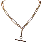 Antique English Gold Watch Chain Necklace