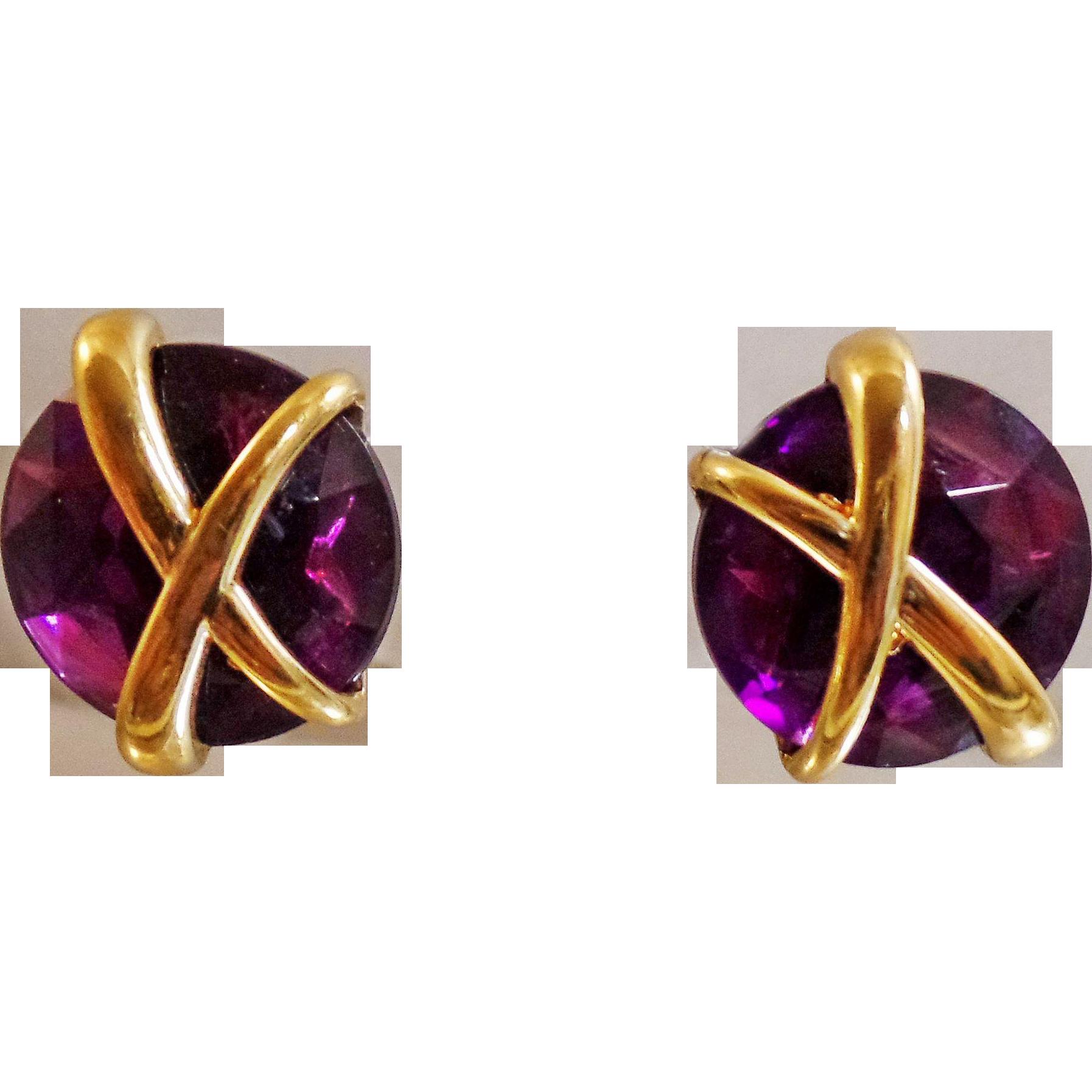 Rhinestone Earrings Vintage 64