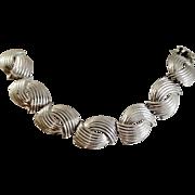 Vintage Coro Pegasus Silver Necklace. 1960s Runway Choker.