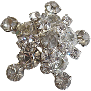 Vintage D&E Juliana Clear Rhinestone Star Brooch. 3D Clear Rhinestone Juliana Pin.
