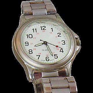 Vintage Advance Puritan Men's Watch. Silver Puritan by Citizen Men's Watch.