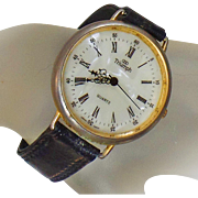 Vintage Triumph Watch. Men's Triumph Watch. Gold Triumph Watch.