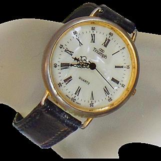 Vintage Triumph Watch. Men's Triumph Watch. Gold Triumph Watch.