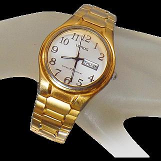 Vintage Lorus Men's Watch. Seiko Gold Men's Watch by Lorus.