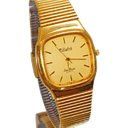 Vintage Lucien Piccard Men's Watch. Gold Plated Dufonte Watch by Lucien Piccard.