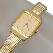 Vintage Gold Seiko Ladies Watch. Gold Tone Seiko Women's Watch.