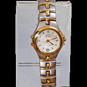 Vintage Anne Klein II Ladies Watch. Women's Silver and Brushed Gold Watch. Designer Watch.