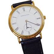 Vintage Registered Edition Hamilton Men's Watch. Men's Gold Plated Hamilton 6210 Watch.