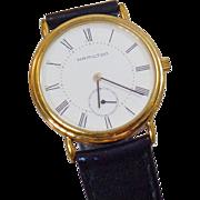 Vintage Registered Edition Hamilton Men's Watch. Men's Gold Plated Hamilton 6210 Watch.