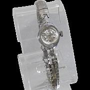 Vintage Benrus 17 Jewel Watch. Art Deco 17 Jewel Ladies Silver Tone Watch. Women's Silver Designer Winding Watch.