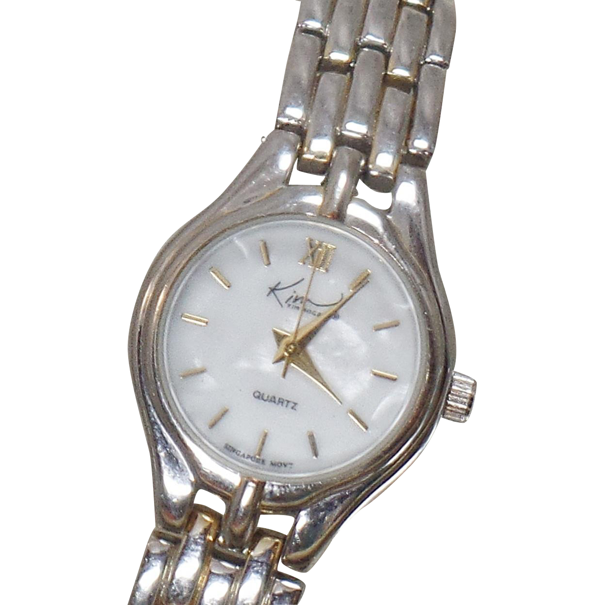 Vintage Mother of Pearl Shell Ladies Watch. Kim Rogers. Silver Mother of Pearl Ladies Wrist Watch. Silver Women's Watch.