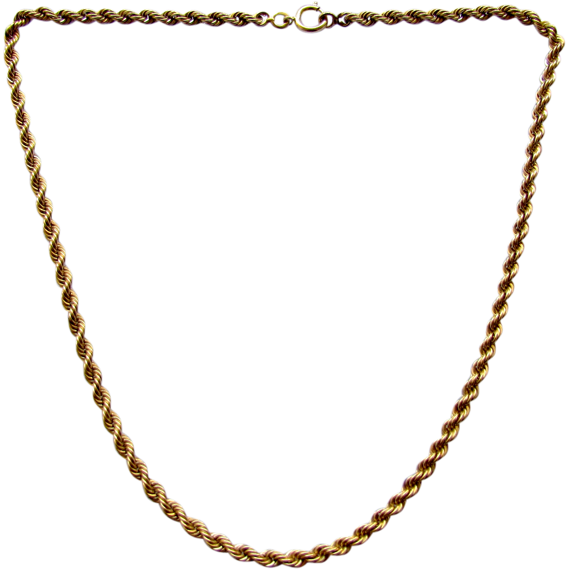 Vintage 14K Yellow Gold Rope Chain Necklace or Bracelet