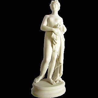 Antique 19th Century Parian Figure Sculpture Bathing Venus Aphrodite