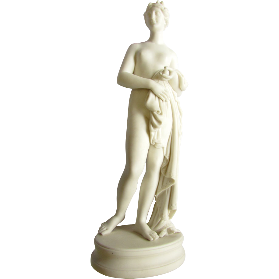 Antique 19th Century Parian Figure Sculpture Bathing Venus Aphrodite