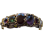 Antique Georgian Acrostic 18K Yellow Gold REGARD Gemstone Ring